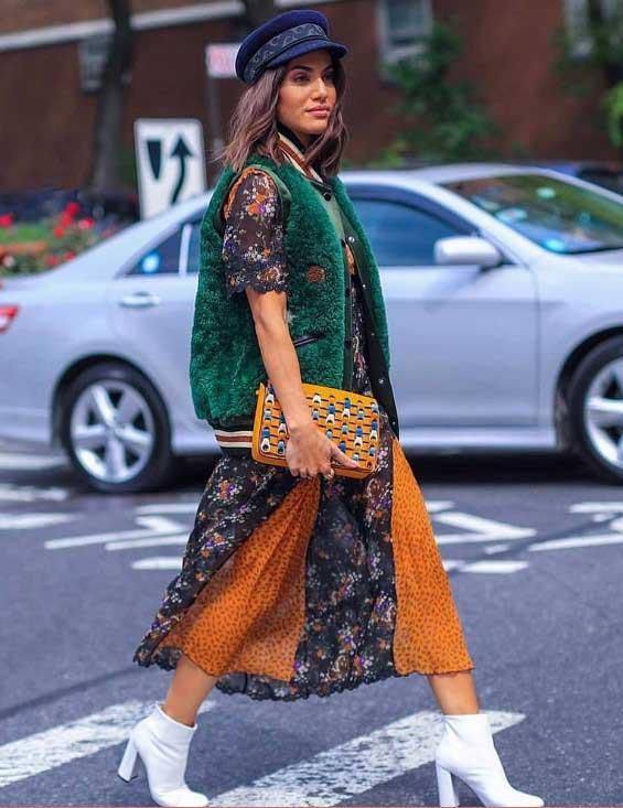 С чем сочетать платье в цветочек по-модному