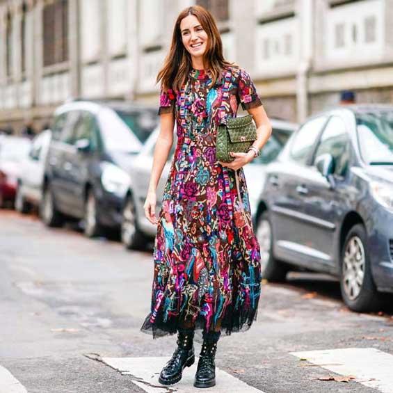 Грубые ботинки и платье