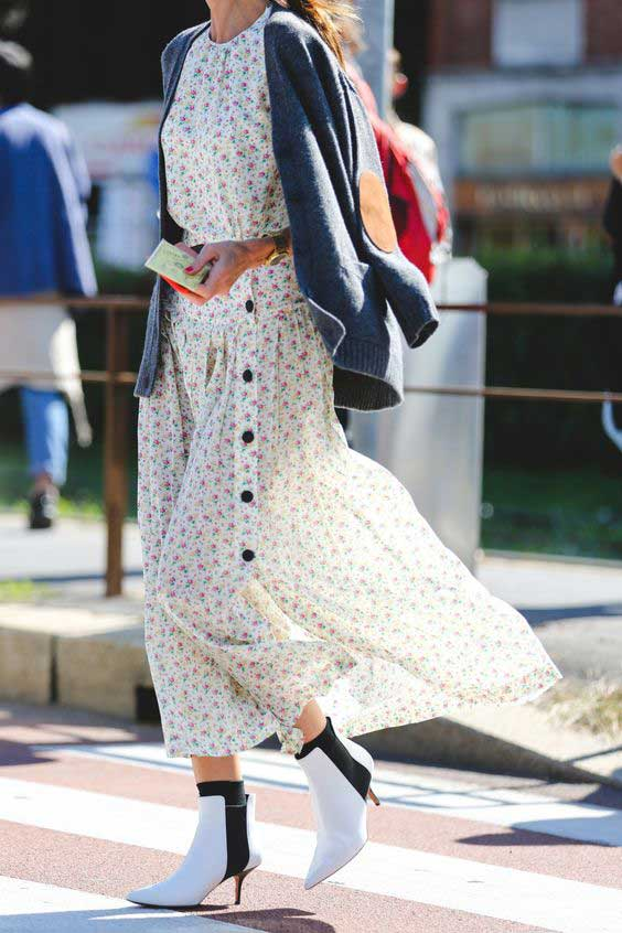 С чем носить платье в цветочек, чтобы не выглядеть старомодно
