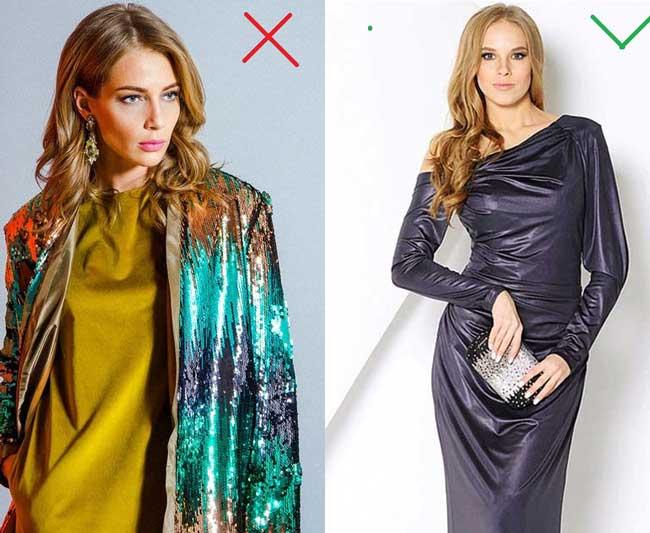 Пайетки против одежды с эффектом металлик