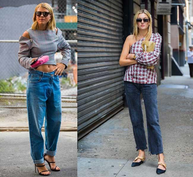 Модные образы с джинсами 2018
