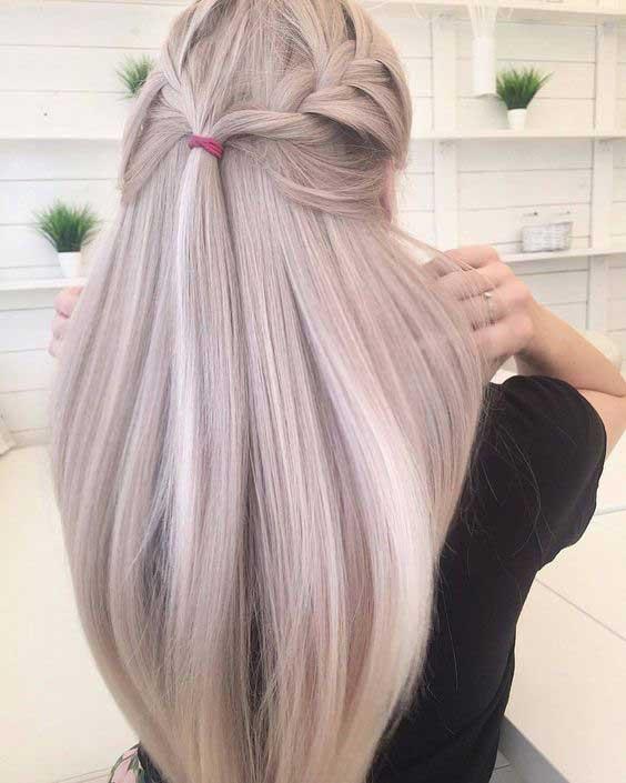 Красивый оттенок светлых волос