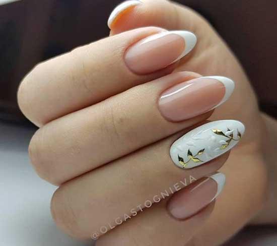 Летние цветы на ногтях