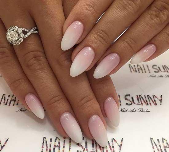 Бело-розовый градиент
