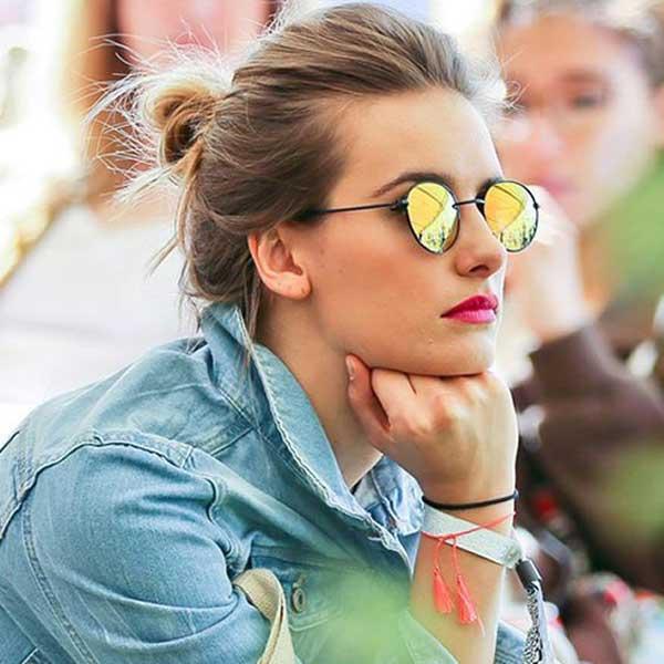 Солнцезащитные очки с зелеными линзами