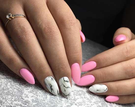 Белый и ярко-розовый