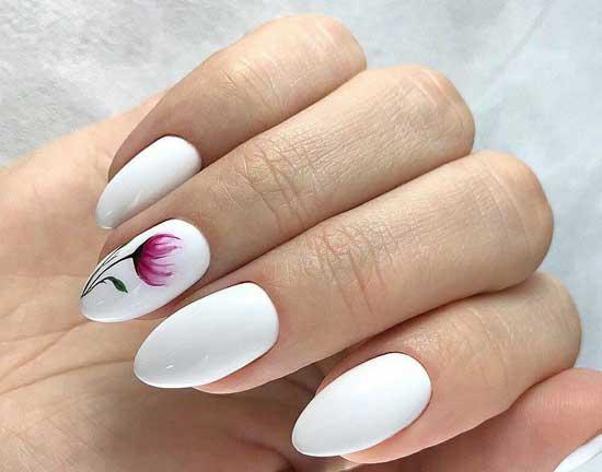 Белый +цветы