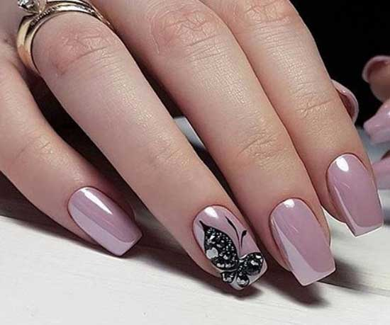 Розовая втирка +бабочка