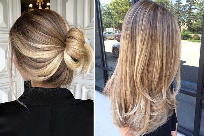 Модное окрашивание бронд на волосах, примеры