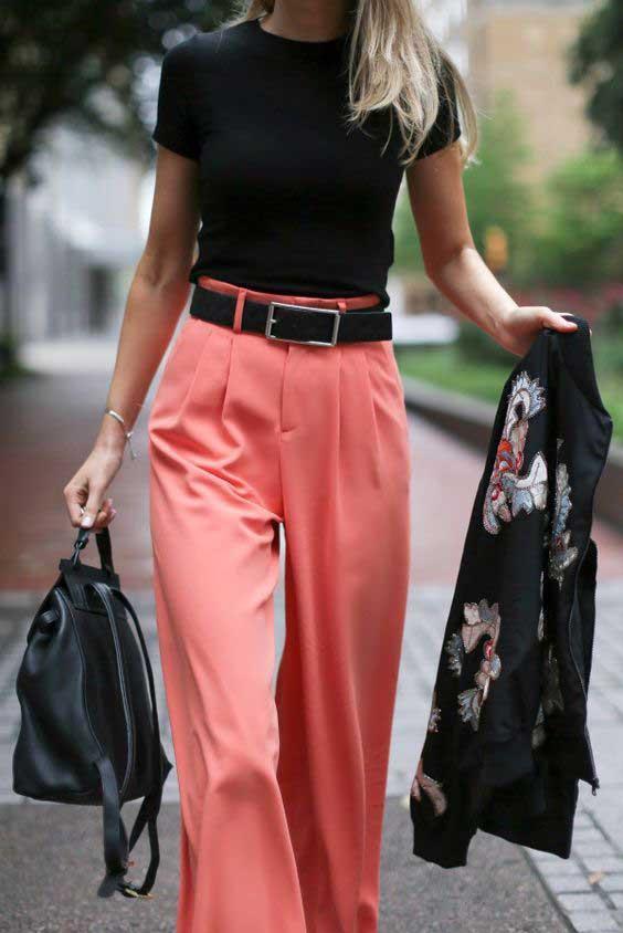 Широкие брюки луки