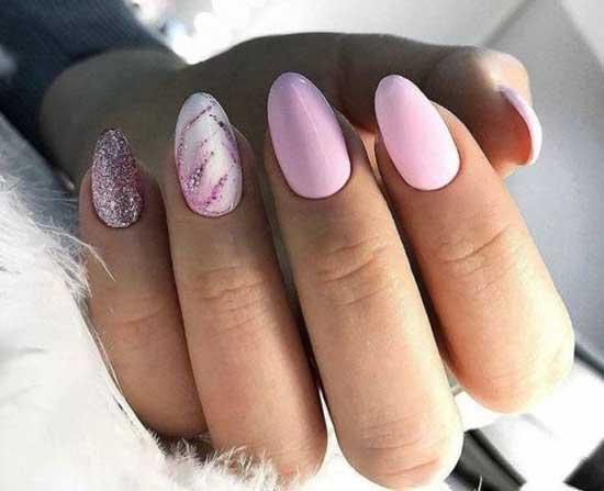 Розовый кварц и блестки