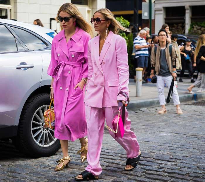 Модные цвета - стильные образы 2018-2019