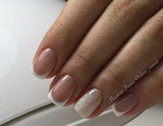 Френч с блеском - классные ногти