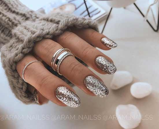 Золотые классные ногти