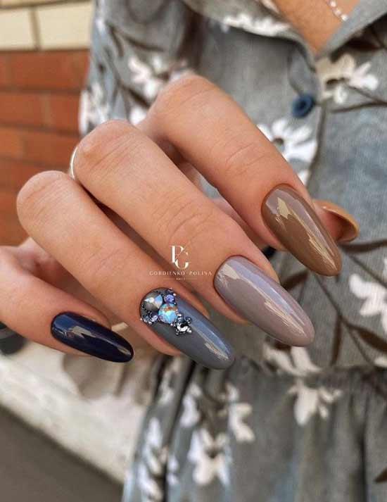 Классный контрастный дизайн ногтей