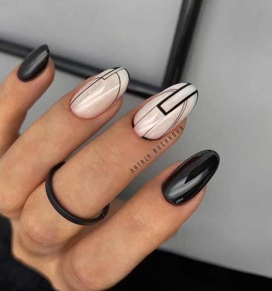 Классная геометрия на ногтях