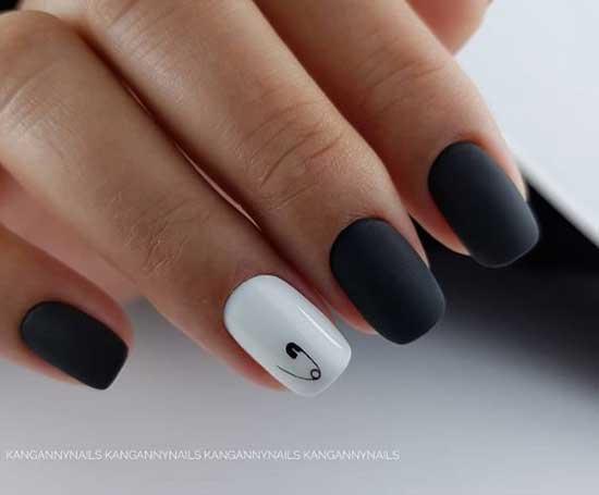Белый+черный матовый
