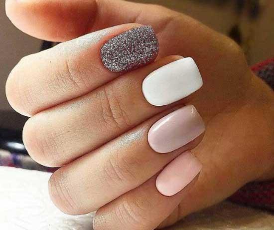 Красивый дизайн на форме ногтей квадрат