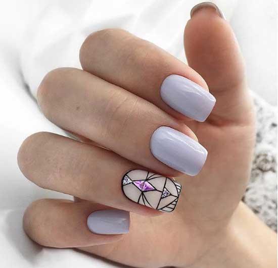 Маникюр для квадратной формы ногтей