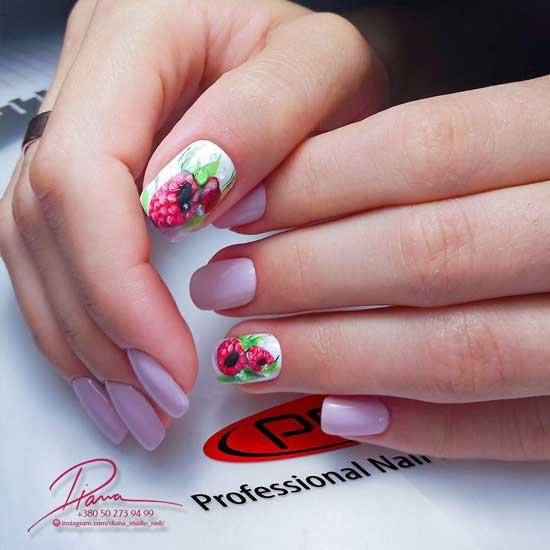 Фруктовый дизайн на ногтях