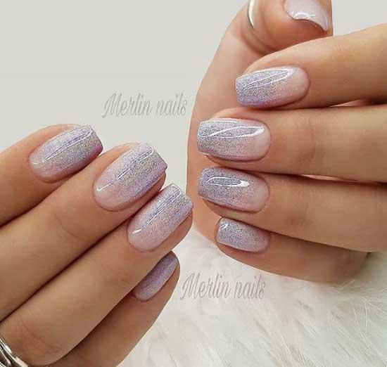 Покрытие ногтей с блестками