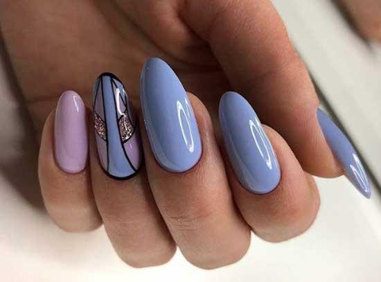 Голубой + розовый дизайн