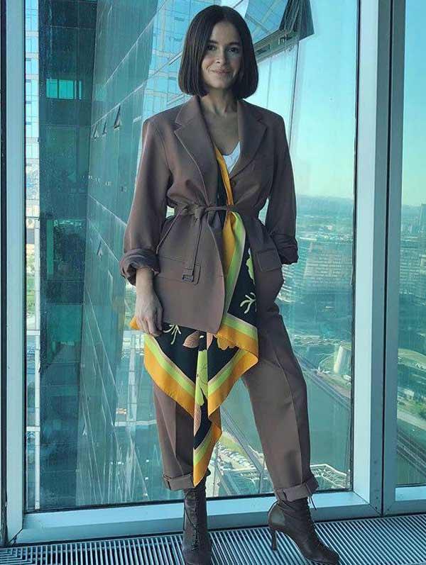 Модные правила относительно платка на шею