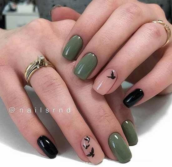 Минимализм на коротких ногтях
