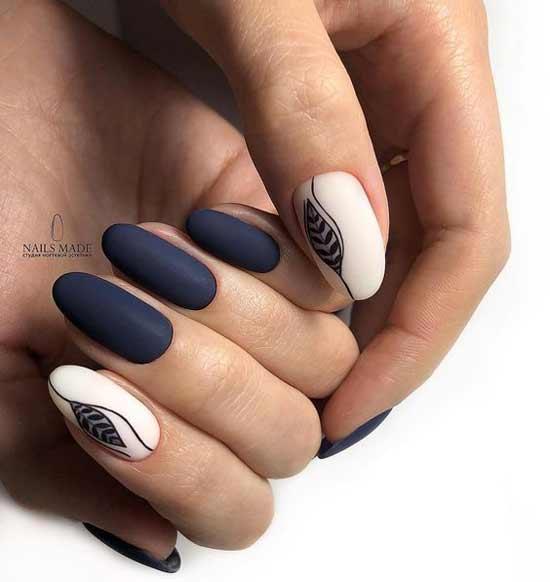 Синий матовый в стиле минимализм