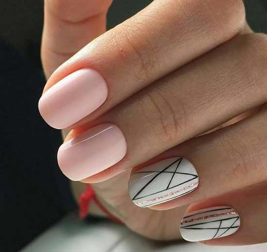Короткие ногти - красивый дизайн