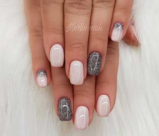 Хрустальный дизайн ногтей