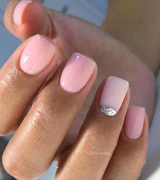 Розовая нежность и блестки - идея для выделения загара