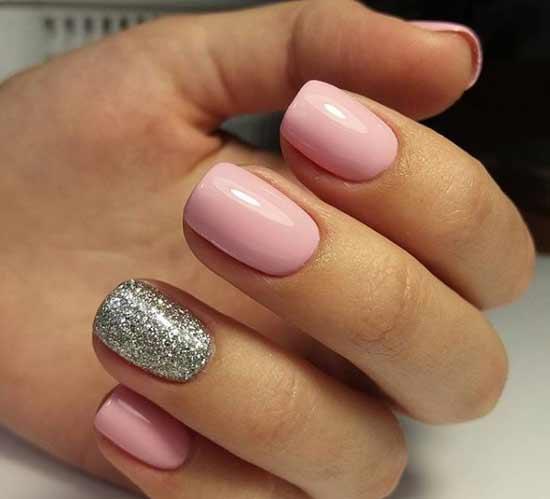 Блестки и розовый