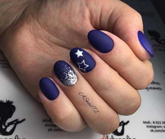 Темно-синий цвет и серебро декор