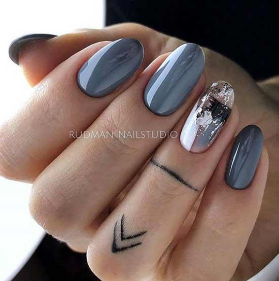 Серый + фольга