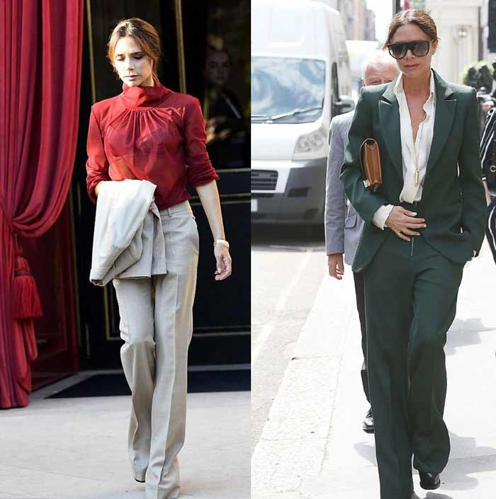 Офисный стиль с широкими брюками