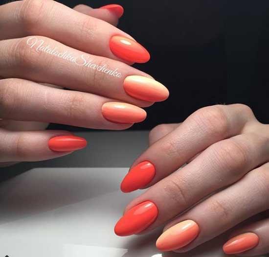 Вертикальный оранжевый градиент
