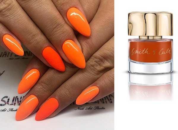 Оранжевый цвет лака