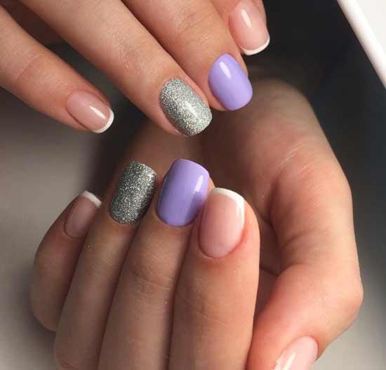 Голые ногти и однотонное покрытие