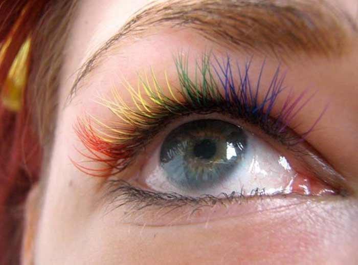 Цветные ресницы - тренд осени