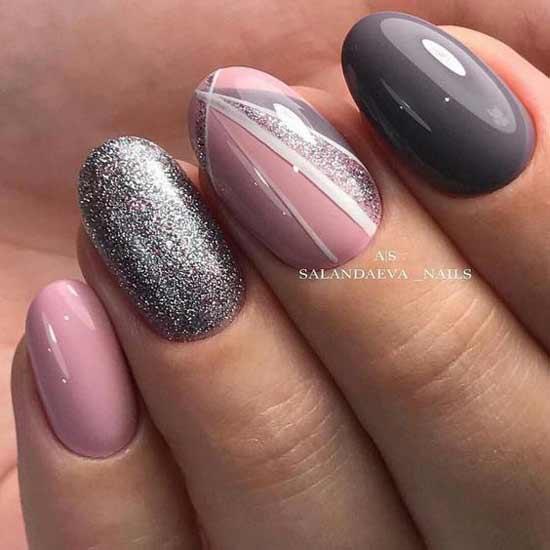 Овальная форма - дизайн ногтей