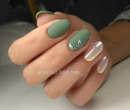 Красивый дизайн овальных ногтей