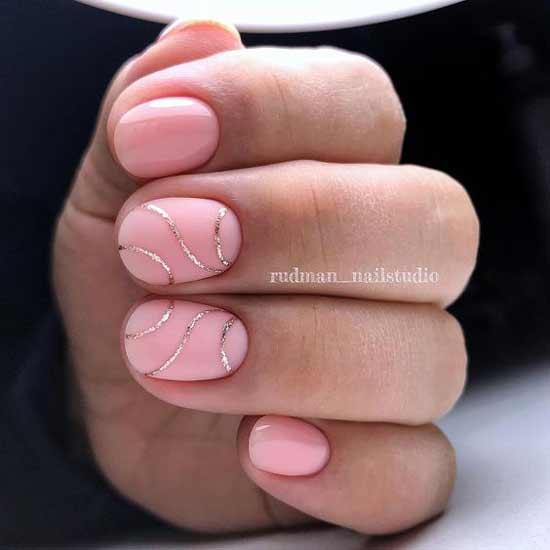 Матовый розовый маникюр - выглядит дорого