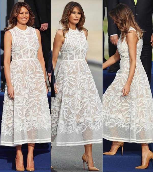Белое платье Мелания стиль