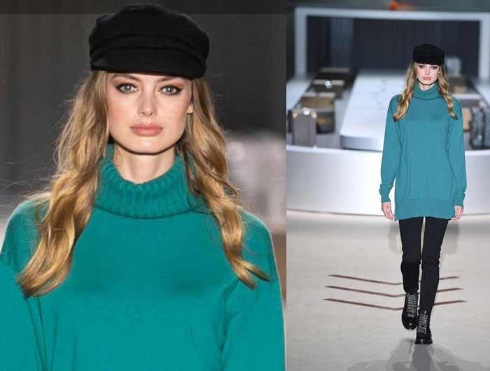 Модный свитер осени 2018-2019: на примере коллекции Falconeri - изумрудного цвета свитер