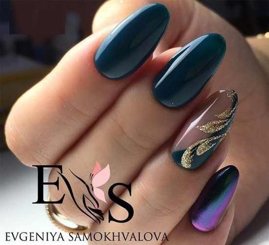 Осеннее настроение на ногтях