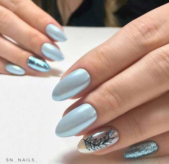 Идеи серого маникюра на длинные ногти