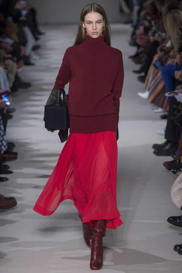Бордовый цвет мода осени 2018