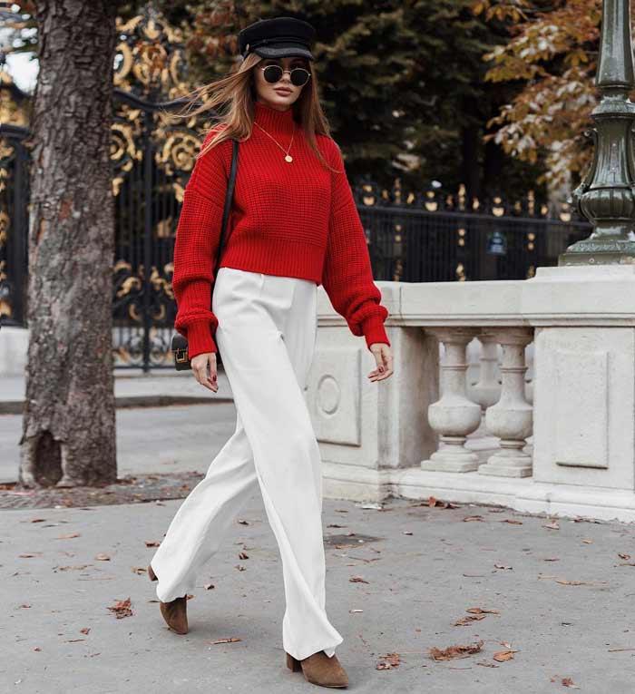 Красный цвет модные цвета осени