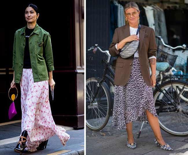 Юбки из шифона - модные осенью